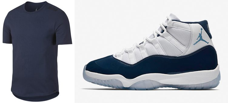 "Air Jordan 11 ""Win Like '82"" x Jordan Retro 11 Alt Hem 23 T-Shirt (Midnight Navy)"