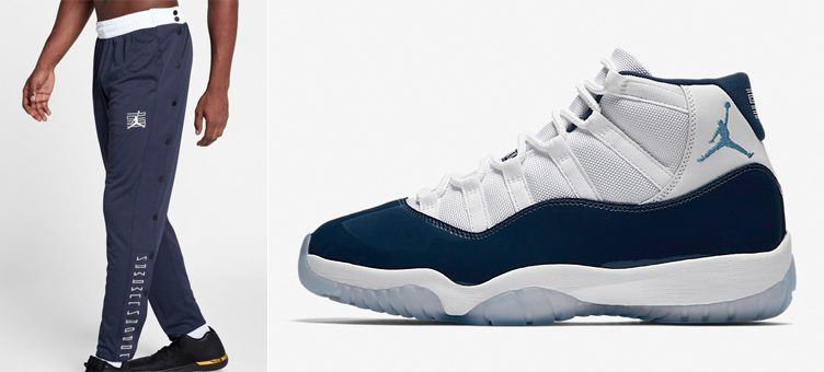 "Air Jordan 11 ""Win Like '82"" x Jordan Retro 11 Snap Pants (Midnight Navy/White)"