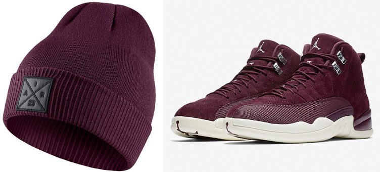 "Jordan Bordeaux Beanies to Match the Air Jordan 12 ""Bordeaux"""