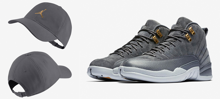 air-jordan-12-dark-grey-hat