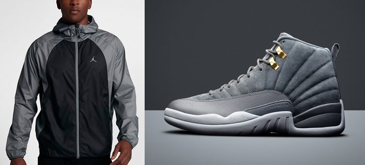 "The Best Jordan Jackets to Match the Air Jordan 12 ""Dark Grey"""