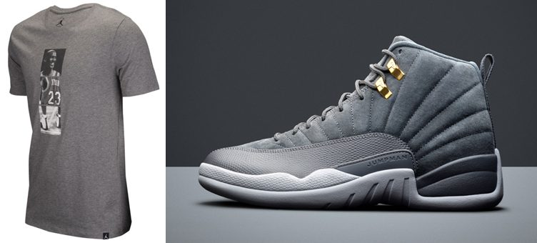 "Air Jordan 12 ""Dark Grey"" x Jordan Retro 12 Connection T-Shirt"