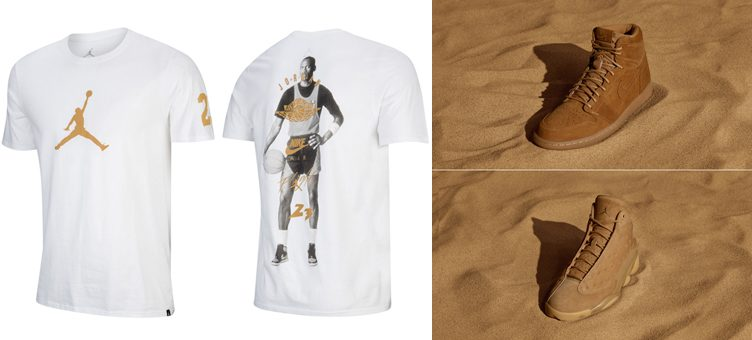 "ebc189397549 Jordan Brand T-Shirts to Match the Air Jordan Wheat ""Golden Harvest"" Pack"