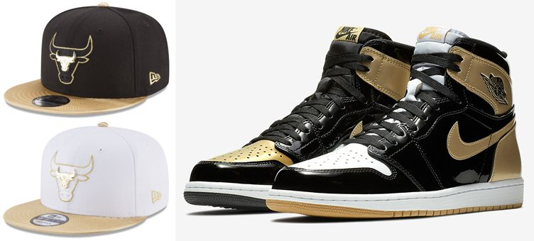 "Air Jordan 1 ""Top 3 Gold"" x Chicago Bulls New Era Triple Gold 9FIFTY Snapback Cap"