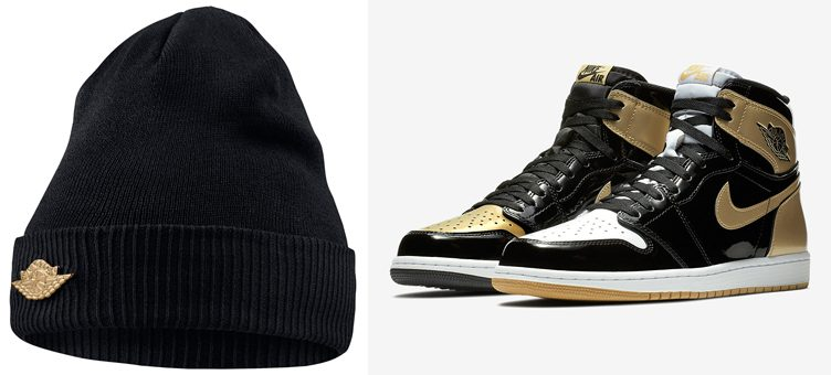 "Air Jordan 1 ""Top 3 Gold"" x Jordan Jumpman Cuff Knit Hat Beanie"