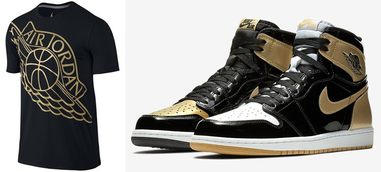 "Jordan Shirts to Match the Air Jordan 1 ""Top 3 Gold"""