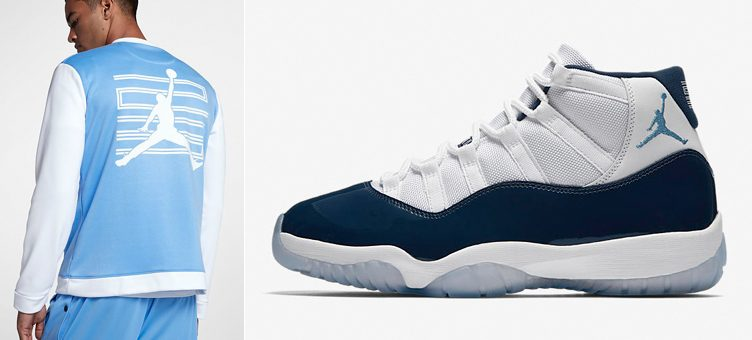 "Air Jordan 11 ""Win Like '82"" x Air Jordan 11 Basketball Jacket (University Blue/White)"