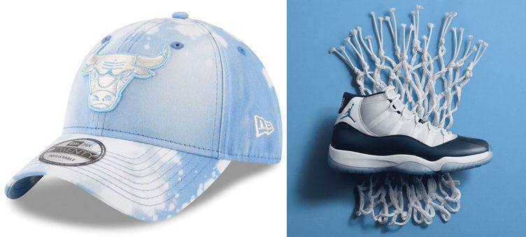 "1c94cb68022d3d Air Jordan 11 ""Win Like  82"" x Chicago Bulls New Era Bleached Out 9TWENTY  Hat"