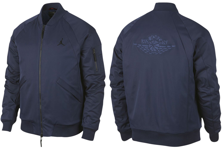 "f2710acc6ef ... Bomber Jacket Navy; Air Jordan 11 ""Win Like 82"" Clothing to Match ..."