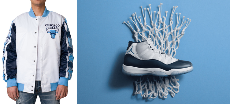 7907a445d85 Jordan 11 Win Like 82 Starter Bulls Jacket | SneakerFits.com