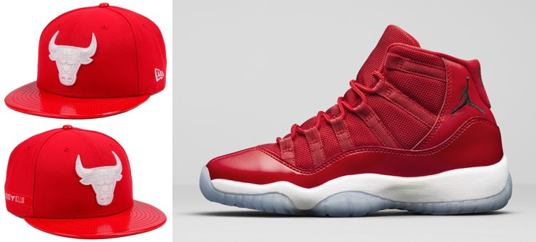 "Air Jordan 11 ""Win Like '96"" x Chicago Bulls New Era Retro 11 Hook Snapback"
