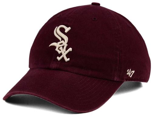 jordan-12-bordeaux-mlb-chicago-white-sox-dad-hat