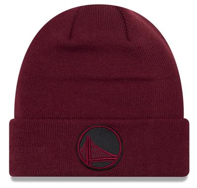 jordan-12-bordeaux-new-era-knit-hat-beanie-warriors