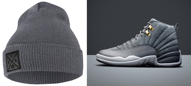 jordan-12-dark-grey-beanie-knit-hat