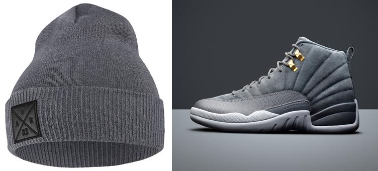 jordan-12-dark-grey-beanie-knit-hat
