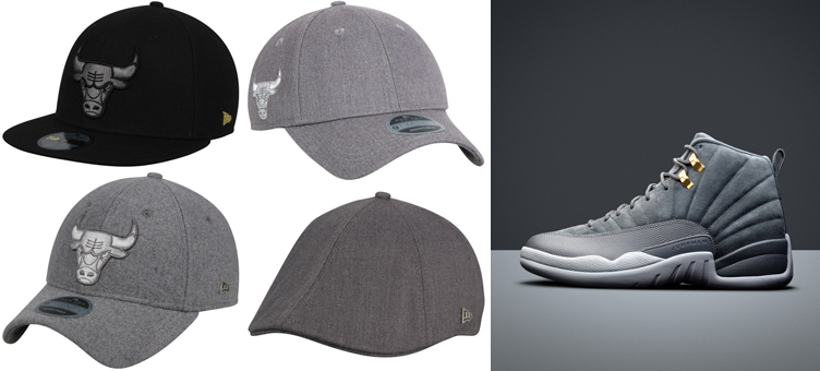 jordan-12-dark-grey-new-era-bulls-hats