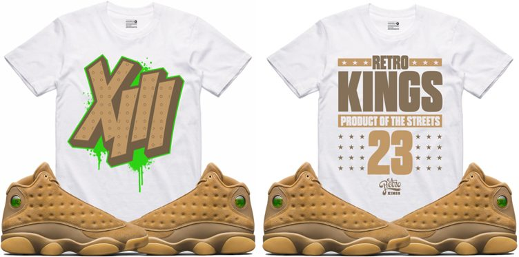 "Retro Kings Sneaker Tees to Match the Air Jordan 13 ""Wheat"""