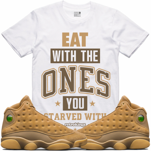 jordan 13 harvest wheat sneaker tees t-shirt