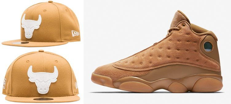 "Air Jordan 13 ""Wheat"" x New Era Chicago Bulls Wheat JJ Exclusive Snapback Cap"