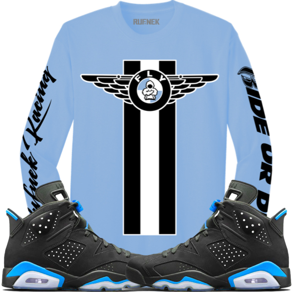 jordan-6-unc-carolina-sneaker-shirt-match