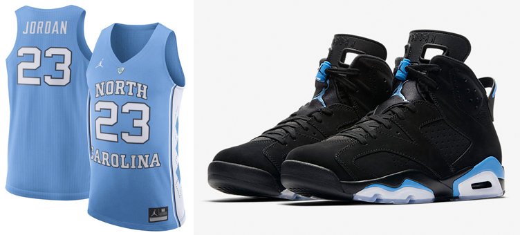 classic fit 5a210 9b379 Jordan 6 UNC Michael Jordan North Carolina Jersey ...