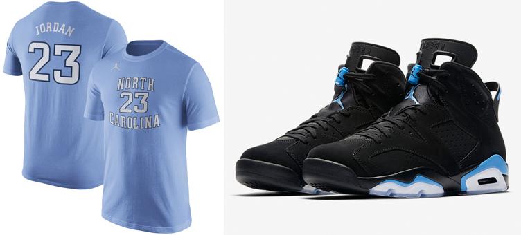 wholesale dealer 7b4e7 74bba Jordan 6 UNC Michael Jordan Carolina Shirt | SneakerFits.com