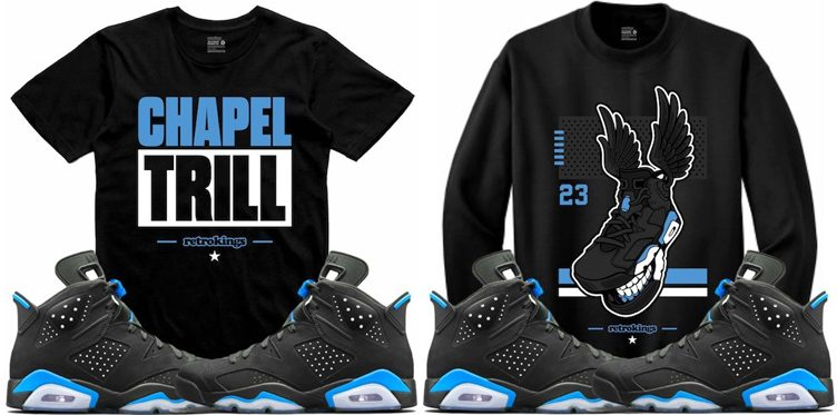 "Retro Kings Tees and Sweatshirts to Match the Air Jordan 6 ""UNC"""