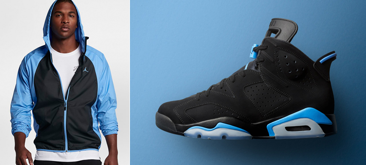 Air Jordan 6 UNC Windbreaker Jacket   SneakerFits.com