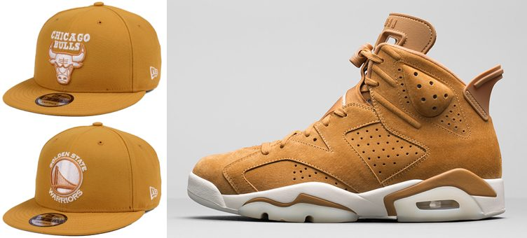 jordan-6-wheat-new-era-nba-snapback-hats