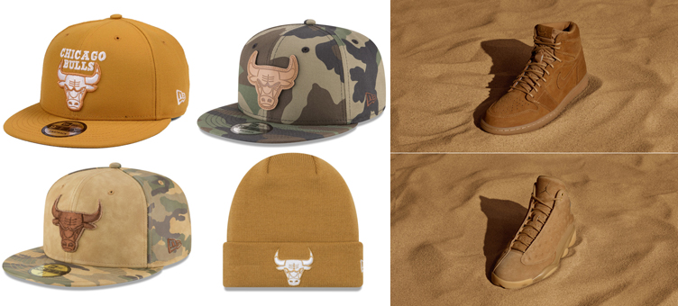 "7e8bb715d567 ... ""Golden Harvest"" Pack. jordan-wheat-bulls-hats. jordan-wheat-bulls-hats"