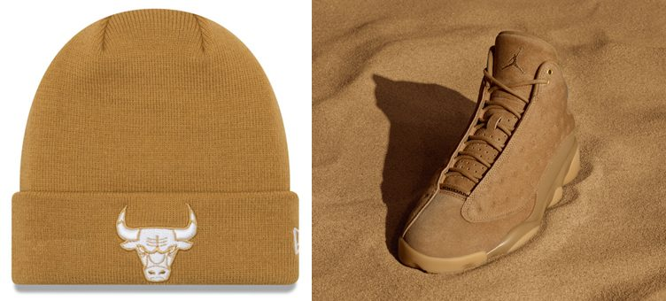"New Era NBA Fall Time Cuff Knit Hats x Jordan Wheat ""Golden Harvest"" Pack"