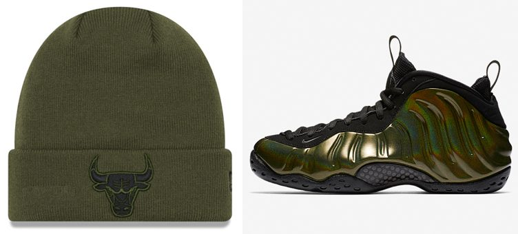 "Nike Air Foamposite One ""Legion Green"" x New Era NBA Fall Time Cuff Knit Hats"