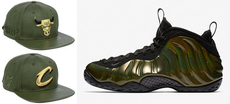 "Nike Air Foamposite One ""Legion Green"" x Pro Standard NBA Olive Strapback Caps"