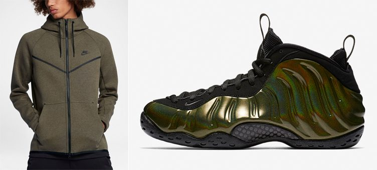 "Nike Air Foamposite One ""Legion Green"" x Nike Tech Fleece Windrunner Jacket"