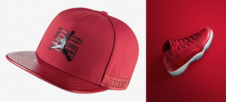 "Air Jordan 11 ""Win Like '96"" x Jordan 11 Snapback Hat (Gym Red/Black)"