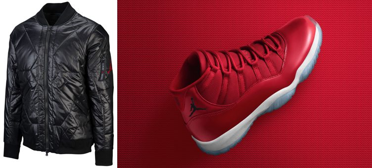 "Air Jordan 11 ""Win Like '96"" x Jordan Retro 11 MA-1 Bomber Jacket"