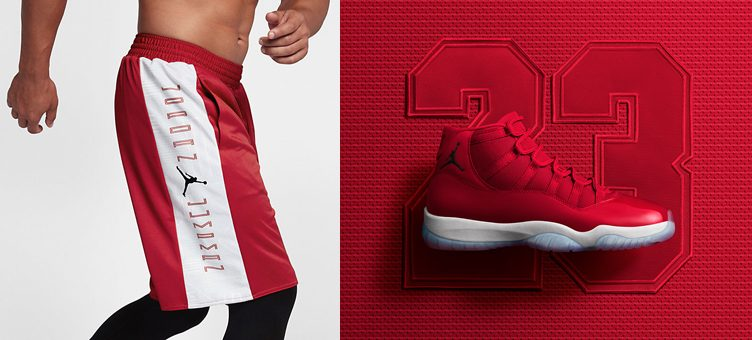 "Air Jordan 11 ""Win Like '96"" x Jordan Retro 11 Reversible Basketball Shorts"