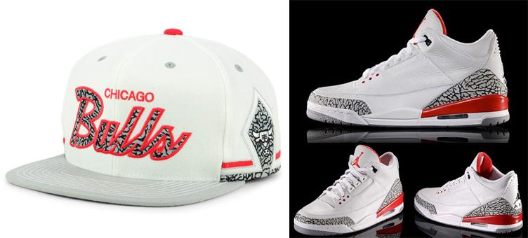 663c90b0fb6 Air Jordan 3 Katrina Bulls Matching Hats