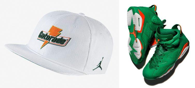 "c410ebf2a5623d Air Jordan 6 ""Gatorade Green"" x Jordan Gatorade Corduroy Snapback Cap"