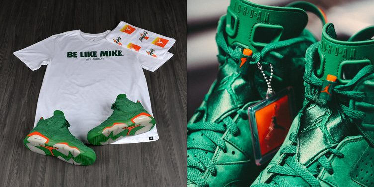 "a8957e4ec48 Air Jordan 6 ""Gatorade Green"" Matching Apparel Available at Footlocker"