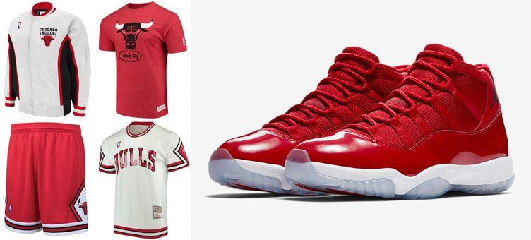 "3a3001cd87e298 Chicago Bulls Mitchell   Ness Gear to Match the Air Jordan 11 ""Win Like  96"""
