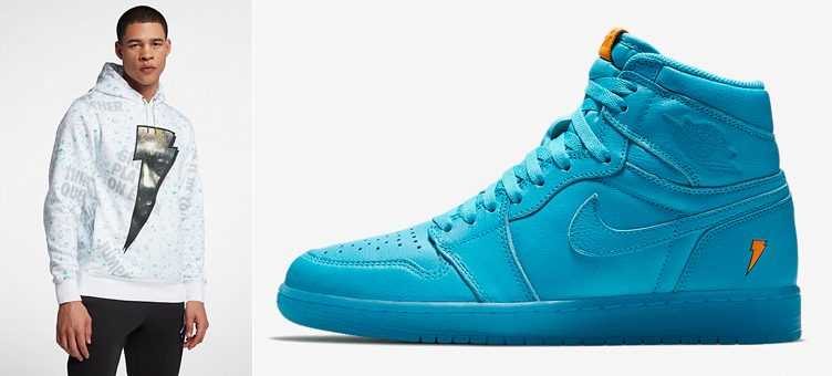 "Air Jordan 1 Gatorade ""Blue Lagoon"" x Jordan ""Like Mike"" All-Over Print Hoodie"