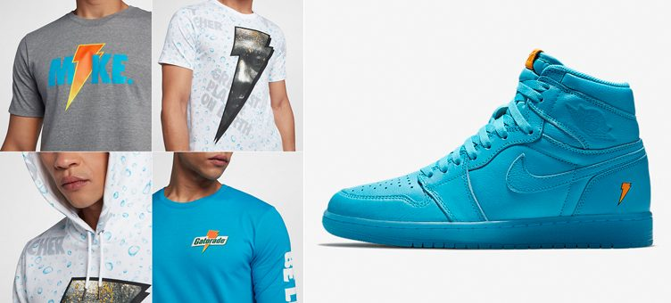 "0c36e316130 Jordan ""Like Mike"" Clothing to Match the Air Jordan 1 Gatorade ""Blue Lagoon"""