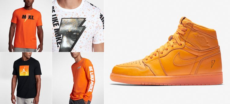 "Jordan Like Mike Shirts to Match the Air Jordan 1 Gatorade ""Orange Peel"""