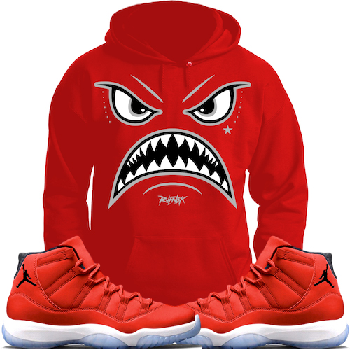 jordan-11-gym-red-96-sneaker-hoodie-match-rufnek-1