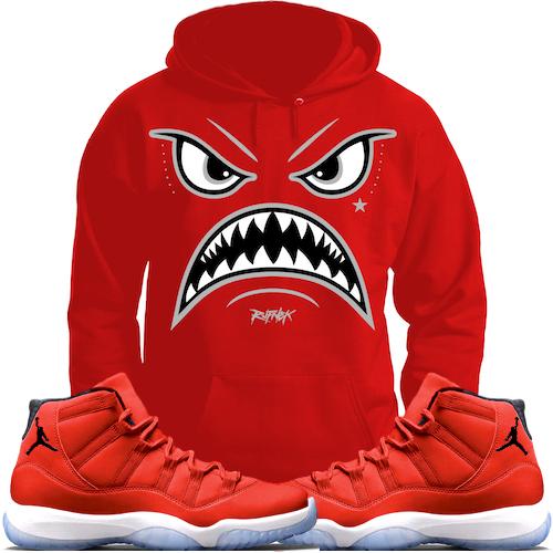 jordan-11-gym-red-96-sneaker-hoodie-match-rufnek-1