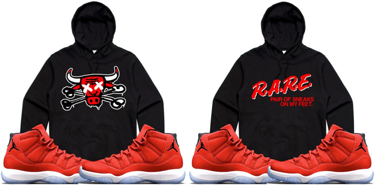 new concept 7b7ae 6723e Jordan 11 Win Like 96 Gym Red Hoodie Match | SneakerFits.com