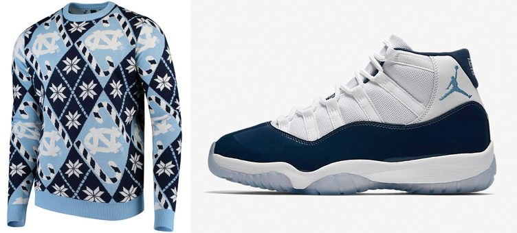jordan-11-win-like-82-unc-ugly-holiday-sweater