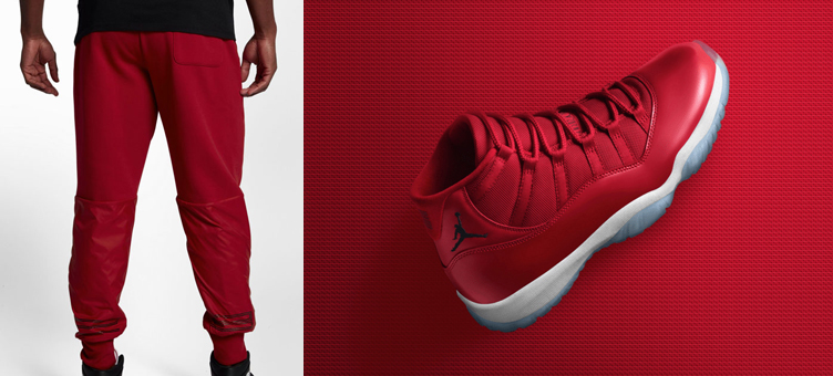 5d08bfd910dba2 Air Jordan 11 Win Like 96 Gym Red Pants