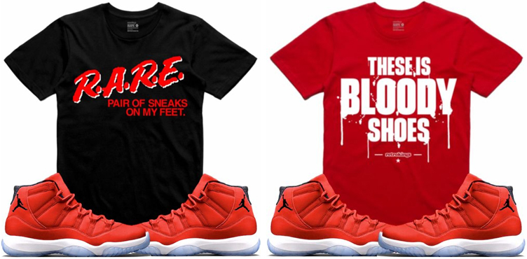 0a85eab236b Jordan 11 Win Like 96 Gym Red Sneaker Tees | SneakerFits.com